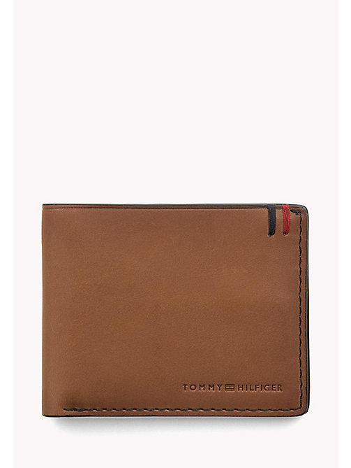 TOMMY HILFIGER Small Leather Wallet - COGNAC - TOMMY HILFIGER Wallets & Keyrings - main image