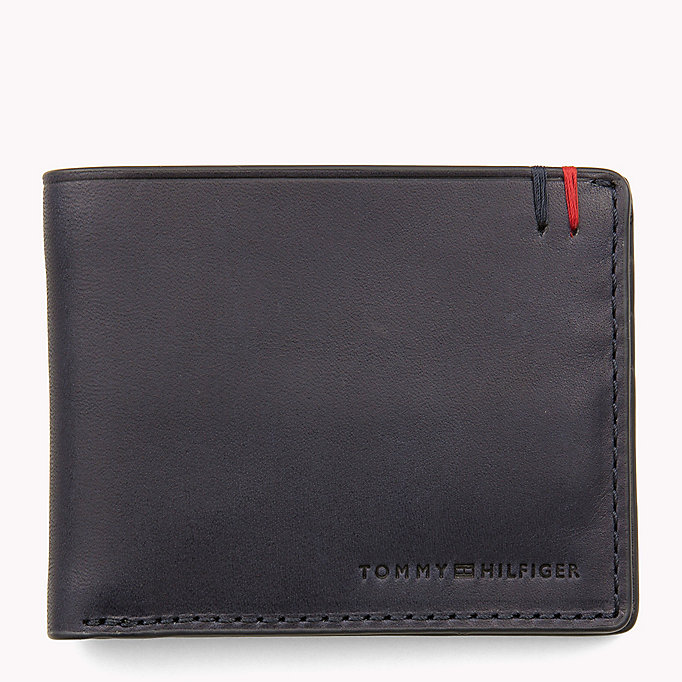 TOMMY HILFIGER Small Leather Wallet - COGNAC - TOMMY HILFIGER Bags & Accessories - main image