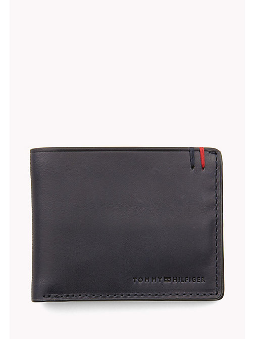 TOMMY HILFIGER Small Leather Wallet - TOMMY NAVY - TOMMY HILFIGER Wallets & Keyrings - main image