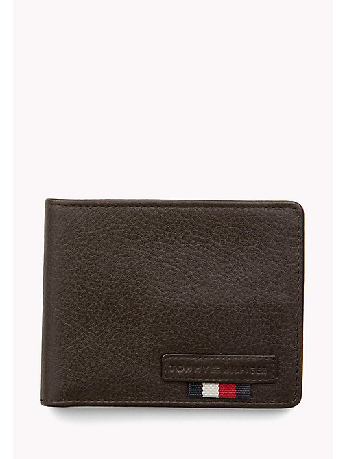 TOMMY HILFIGER Signature Stripe Leather Wallet - BROWN - TOMMY HILFIGER Wallets & Keyrings - main image