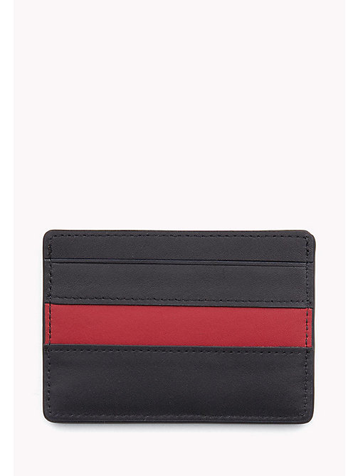 TOMMY HILFIGER Stripe Leather Cardholder - TOMMY NAVY / TOMMY RED - TOMMY HILFIGER Bags & Accessories - detail image 1