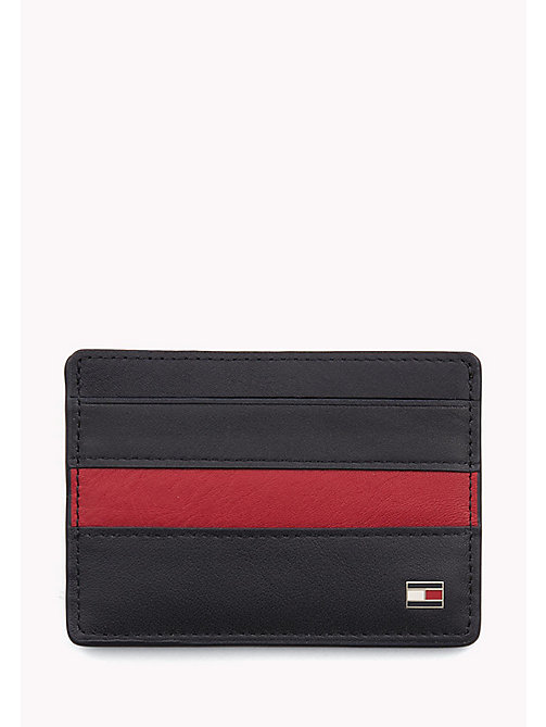 TOMMY HILFIGER Stripe Leather Cardholder - TOMMY NAVY / TOMMY RED - TOMMY HILFIGER Bags & Accessories - main image