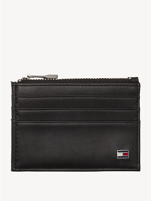 TOMMY HILFIGER Leather Zip Cardholder - BLACK - TOMMY HILFIGER Wallets & Keyrings - detail image 1