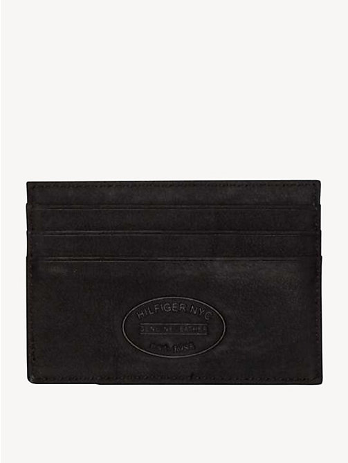 TOMMY HILFIGER Leather Cardholder - BLACK - TOMMY HILFIGER Wallets & Keyrings - detail image 1