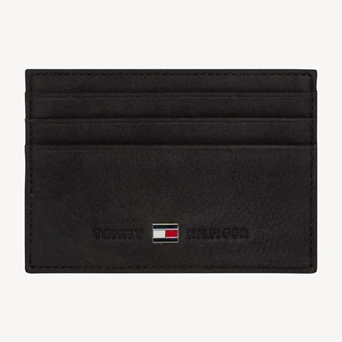 TOMMY HILFIGER Leather Cardholder - BROWN - TOMMY HILFIGER Men - main image