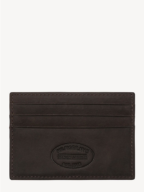 TOMMY HILFIGER Leather Cardholder - BROWN - TOMMY HILFIGER Wallets & Keyrings - detail image 1