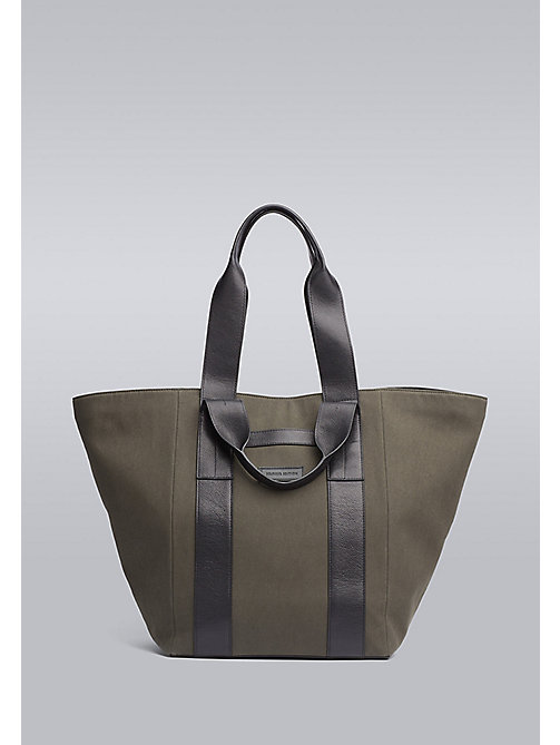 TOMMY HILFIGER Canvas Tote Bag - GREEN / BLACK - TOMMY HILFIGER Bags & Accessories - main image