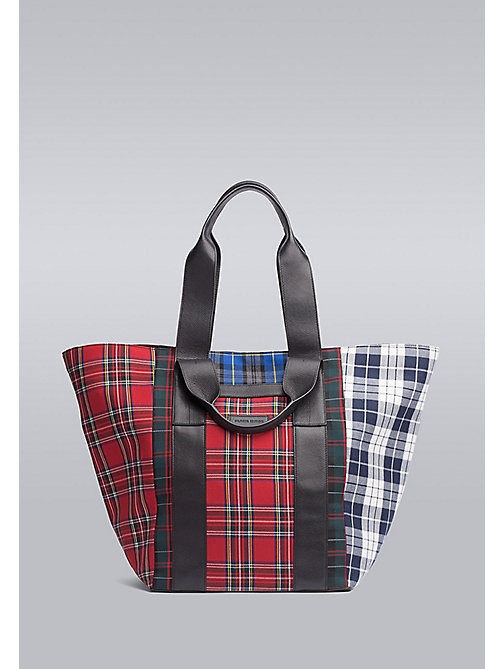 TOMMY HILFIGER Check Tote Bag - CHECK PRINT - TOMMY HILFIGER Bags & Accessories - main image
