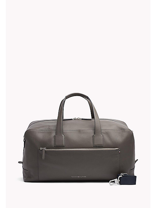 TOMMY HILFIGER Leather Weekender Bag - GREY - TOMMY HILFIGER Bags & Accessories - main image