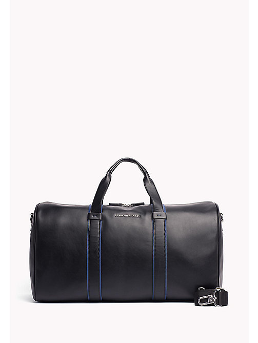TOMMY HILFIGER Contrast Stripe Duffle Bag - BLACK / SODALITE BLUE - TOMMY HILFIGER Bags & Accessories - main image
