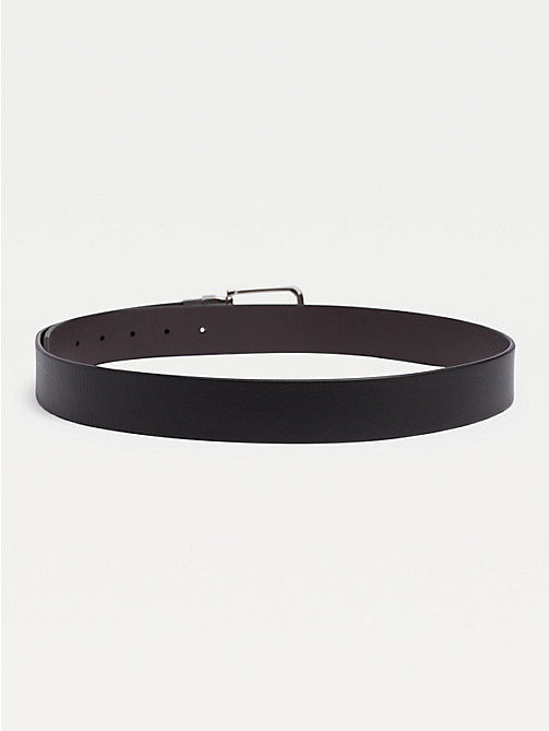 TOMMY HILFIGER Reversible Leather Silver-Tone Loop Belt - BLACK/BROWN - TOMMY HILFIGER Belts - detail image 1