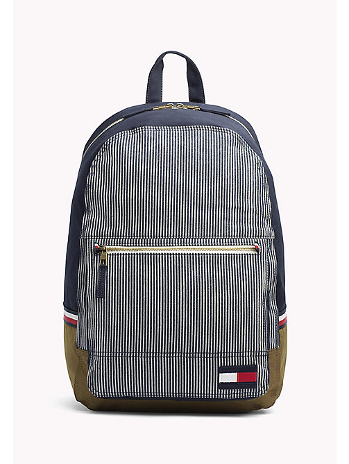 TOMMY HILFIGER Railroad Stripe Canvas Backpack - RAILROAD STRIPE PRINT - TOMMY HILFIGER Bags & Accessories - main image