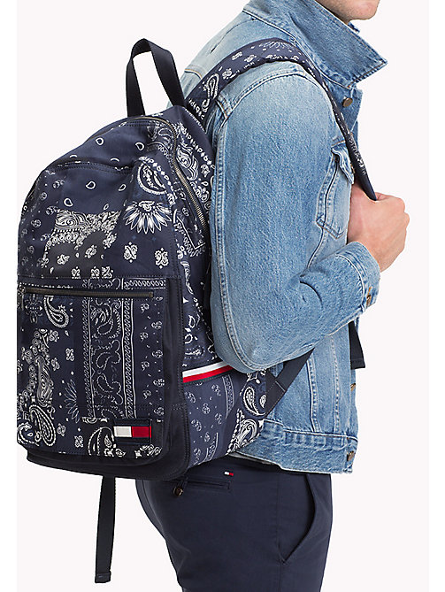 TOMMY HILFIGER Denim Bandana Print Backpack - BANDANA PRINT - TOMMY HILFIGER Test 4 - detail image 1