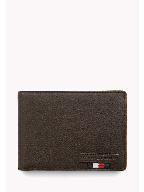 TOMMY HILFIGER Textured Leather Wallet - BROWN - TOMMY HILFIGER Wallets & Keyrings - main image