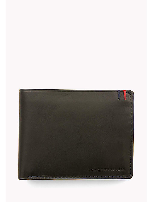 Heritage Leather Wallet - BLACK - TOMMY HILFIGER Bags & Accessories - main image