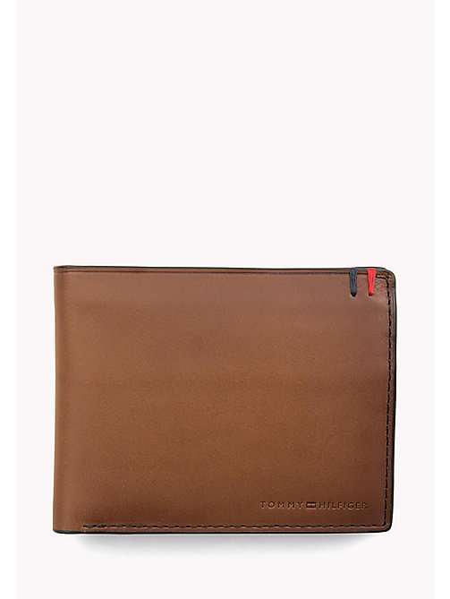 Heritage Leather Wallet - COGNAC - TOMMY HILFIGER Bags & Accessories - main image