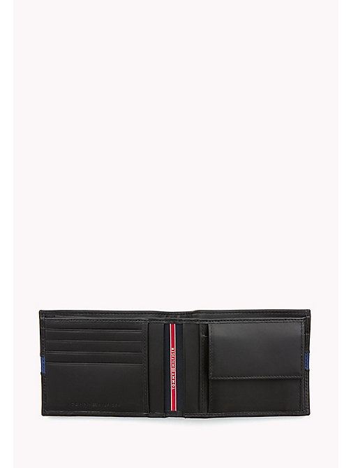 TOMMY HILFIGER Contrast Stripe Leather Wallet - BLACK / SODALITE BLUE - TOMMY HILFIGER Bags & Accessories - detail image 1