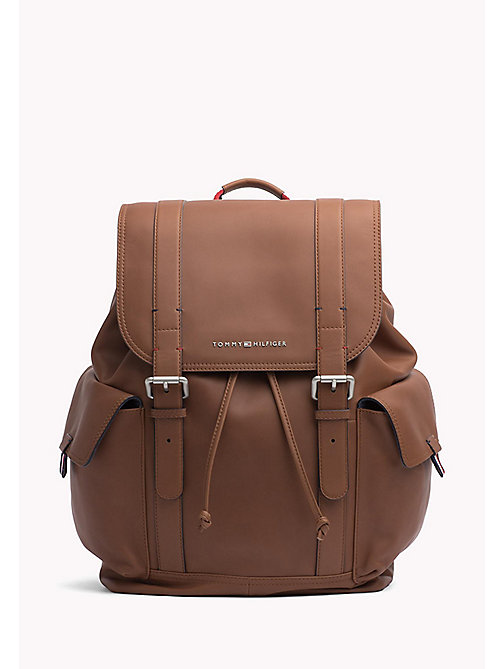 Leather Buckle Backpack - COGNAC - TOMMY HILFIGER Bags & Accessories - main image
