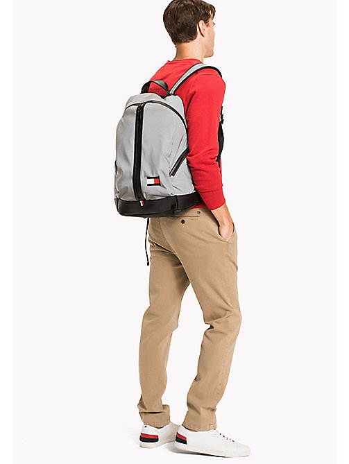 TOMMY HILFIGER 3-Way Zip Closure Backpack - GREY - TOMMY HILFIGER Bags & Accessories - detail image 1