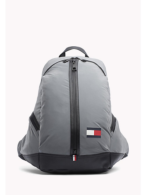 TOMMY HILFIGER 3-Way Zip Closure Backpack - GREY - TOMMY HILFIGER Bags & Accessories - main image