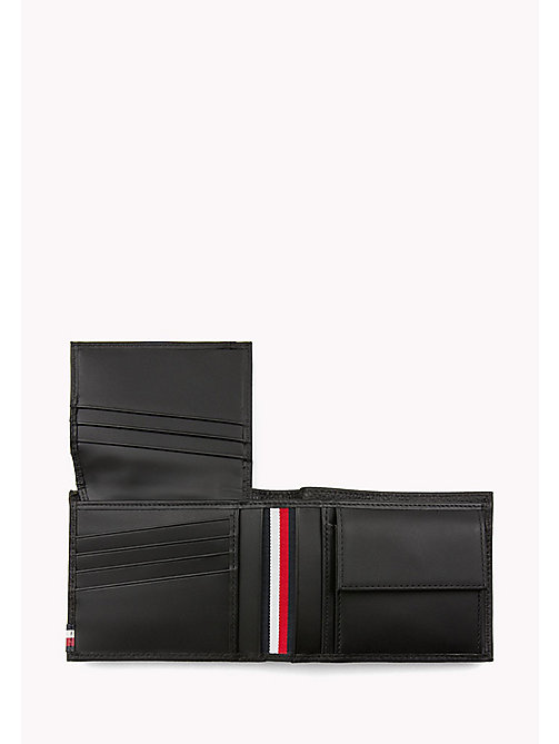 TOMMY HILFIGER Lift the Flap Leather Wallet - BLACK - TOMMY HILFIGER Wallets & Keyrings - detail image 1