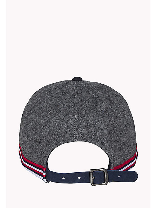 TOMMY HILFIGER Wool Blend Cap - GREY HEATHER - TOMMY HILFIGER Hats - detail image 1