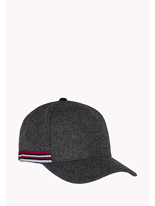 TOMMY HILFIGER Wool Blend Cap - GREY HEATHER - TOMMY HILFIGER Hats - main image