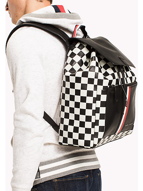 TOMMY HILFIGER Chequerboard Print Leather Backpack - CHECKER PRINT - TOMMY HILFIGER NEW IN - detail image 1