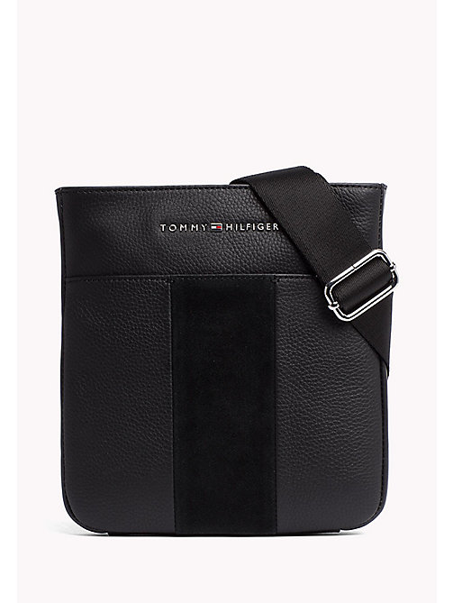 TOMMY HILFIGER Compact Leather Cross Body Bag - BLACK - TOMMY HILFIGER Crossbody Bags - main image