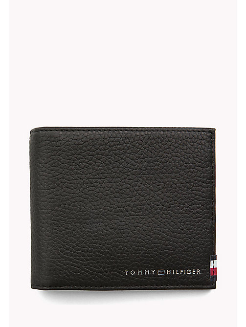 TOMMY HILFIGER Soft Leather Clip Wallet - BLACK - TOMMY HILFIGER Wallets & Keyrings - main image