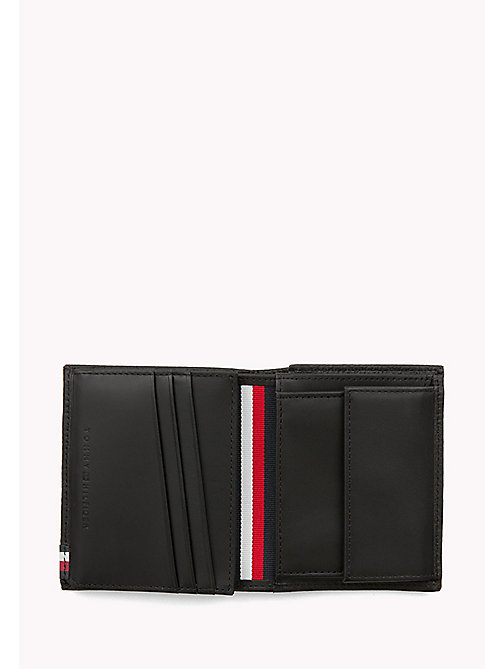 TOMMY HILFIGER Soft Leather Trifold Wallet - BLACK - TOMMY HILFIGER Bags & Accessories - detail image 1
