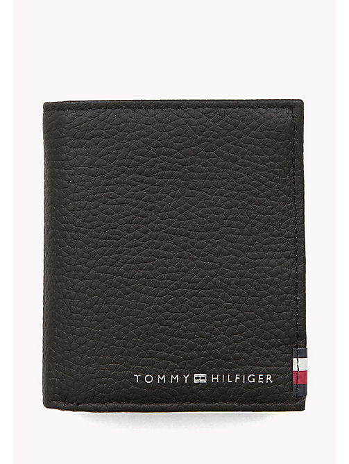 TOMMY HILFIGER Soft Leather Trifold Wallet - BLACK - TOMMY HILFIGER Wallets & Keyrings - main image