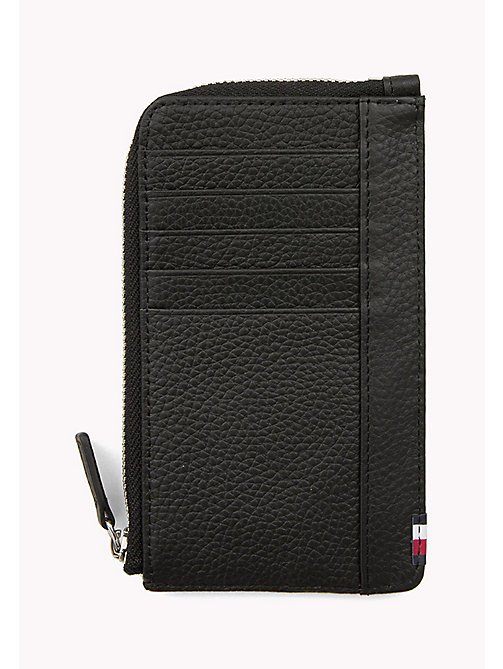 TOMMY HILFIGER Soft Leather Phone Wallet - BLACK - TOMMY HILFIGER Bags & Accessories - detail image 1