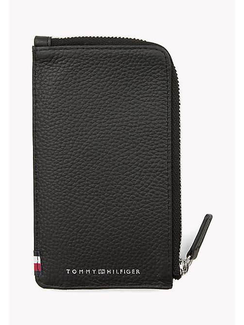 TOMMY HILFIGER Soft Leather Phone Wallet - BLACK - TOMMY HILFIGER Wallets & Keyrings - main image