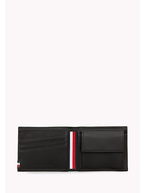 TOMMY HILFIGER Soft Leather Coin Wallet - BLACK - TOMMY HILFIGER Wallets & Keyrings - detail image 1