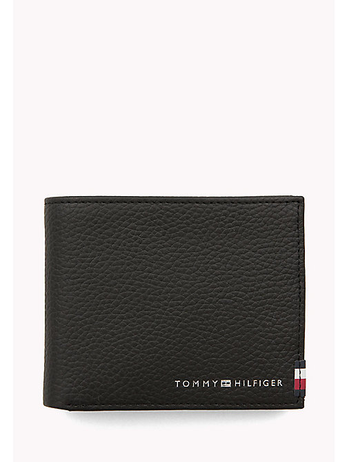 TOMMY HILFIGER Soft Leather Coin Wallet - BLACK - TOMMY HILFIGER Wallets & Keyrings - main image