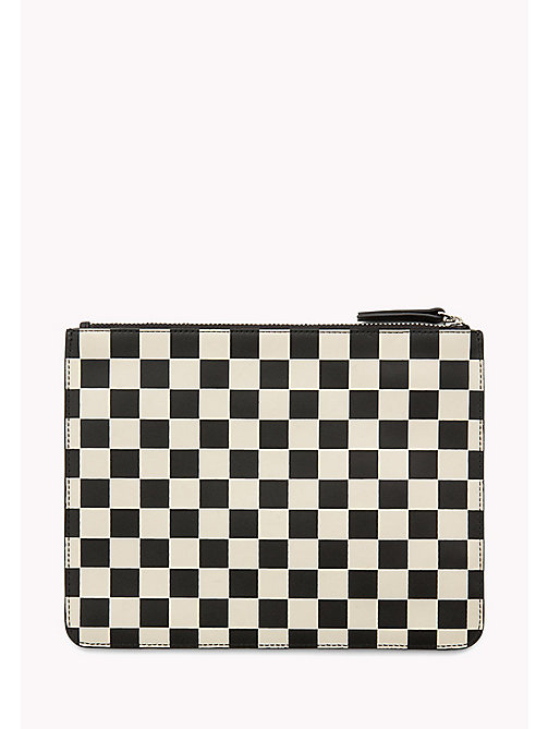 TOMMY HILFIGER Leather Check Zip Pouch - CHECKER PRINT - TOMMY HILFIGER Bags & Accessories - detail image 1