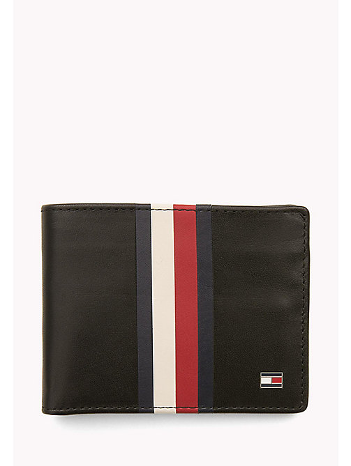 TOMMY HILFIGER Leather Stripe Wallet - BLACK - TOMMY HILFIGER Wallets & Keyrings - main image
