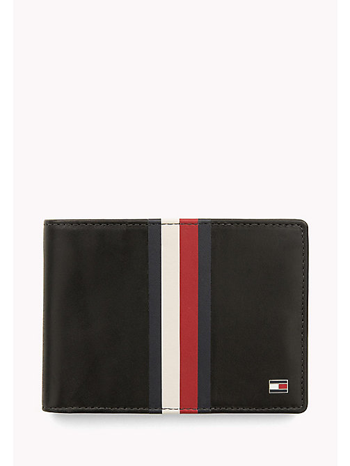 Leather Stripe Wallet - BLACK - TOMMY HILFIGER Bags & Accessories - main image