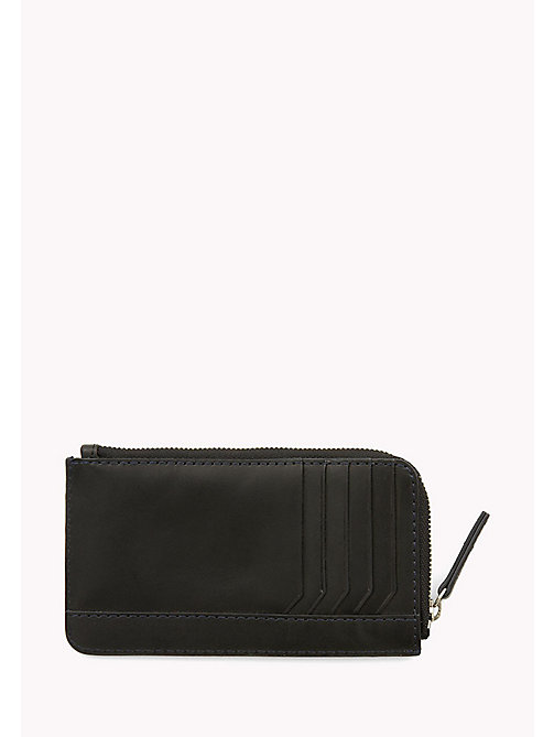 TOMMY HILFIGER Burnished Leather Phone & Card Holder - BLACK - TOMMY HILFIGER Bags & Accessories - detail image 1