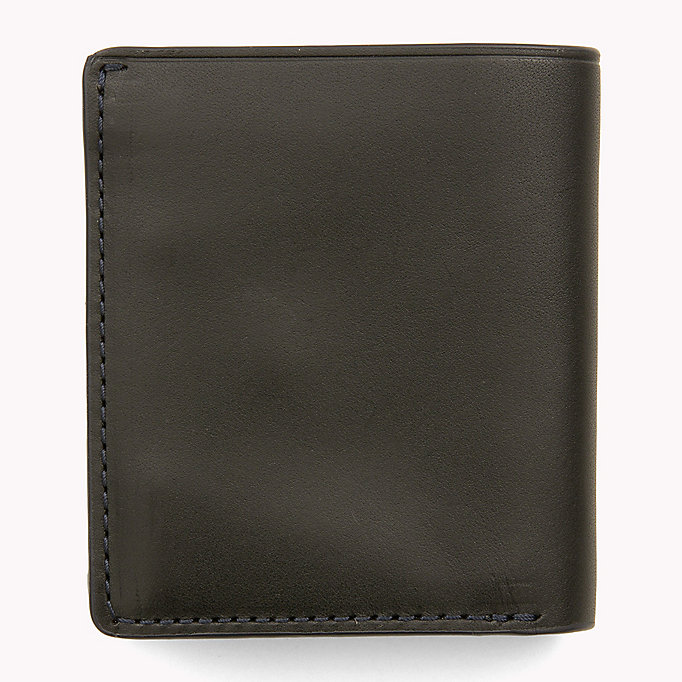 TOMMY HILFIGER Burnished Leather Trifold Wallet - COGNAC - TOMMY HILFIGER Bags & Accessories - detail image 1