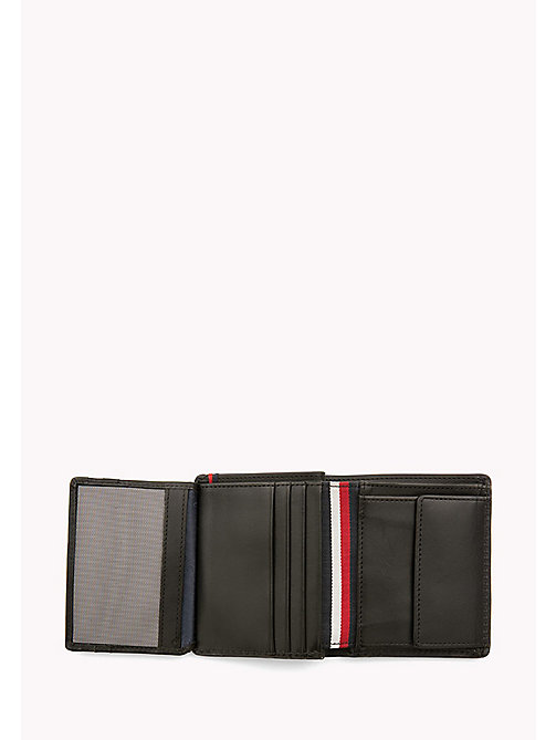 TOMMY HILFIGER Burnished Leather Trifold Wallet - BLACK - TOMMY HILFIGER Wallets & Keyrings - detail image 1