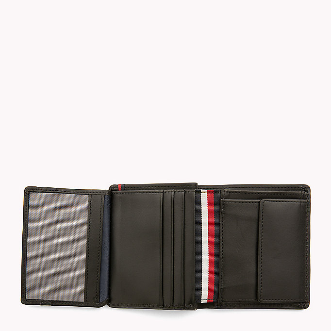 TOMMY HILFIGER Burnished Leather Trifold Wallet - COGNAC - TOMMY HILFIGER Bags & Accessories - detail image 2