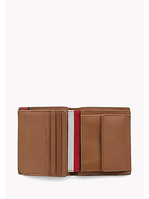 TOMMY HILFIGER Burnished Leather Trifold Wallet - COGNAC - TOMMY HILFIGER Wallets & Keyrings - detail image 1