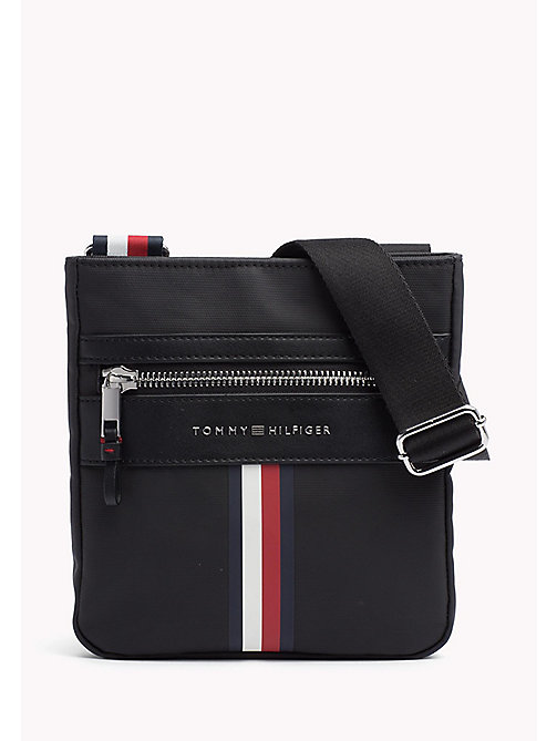 TOMMY HILFIGER Coated Canvas Mini Crossover Bag - BLACK - TOMMY HILFIGER NEW IN - main image