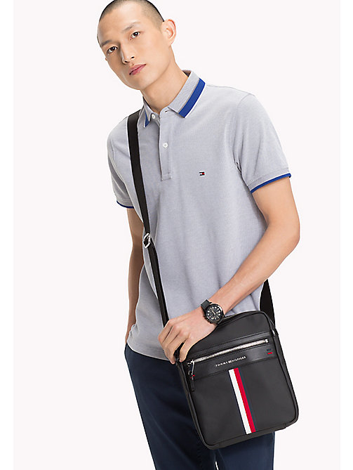 Coated Canvas Reporter Bag - BLACK - TOMMY HILFIGER Bags & Accessories - detail image 1