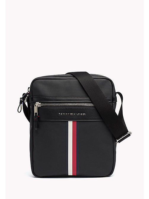 TOMMY HILFIGER Coated Canvas Reporter Bag - BLACK - TOMMY HILFIGER NEW IN - main image