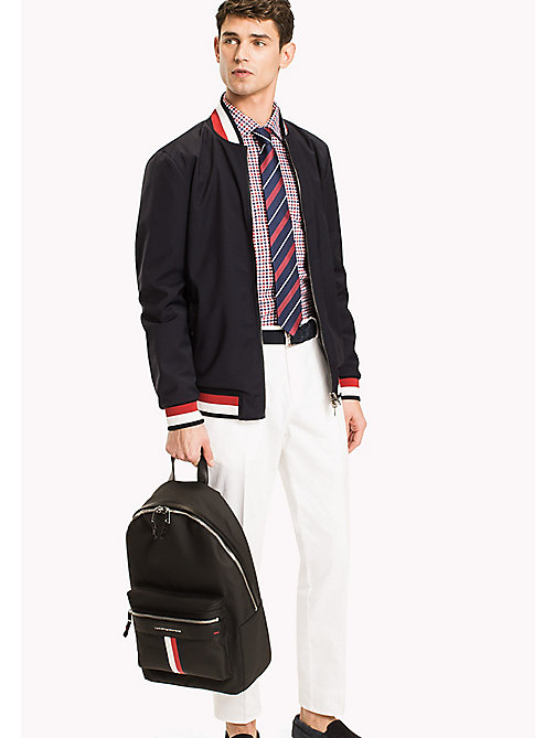 TOMMY HILFIGER Sporty Cotton Laptop Backpack - BLACK - TOMMY HILFIGER TOMMY'S PADDOCK - detail image 1