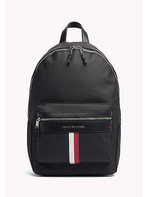 TOMMY HILFIGER Sporty Cotton Laptop Backpack - BLACK - TOMMY HILFIGER TOMMY'S PADDOCK - main image