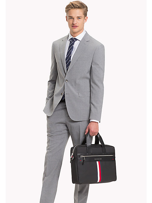 TOMMY HILFIGER Laptop-Tasche im Business-Casual-Look - BLACK - TOMMY HILFIGER Test 4 - main image 1